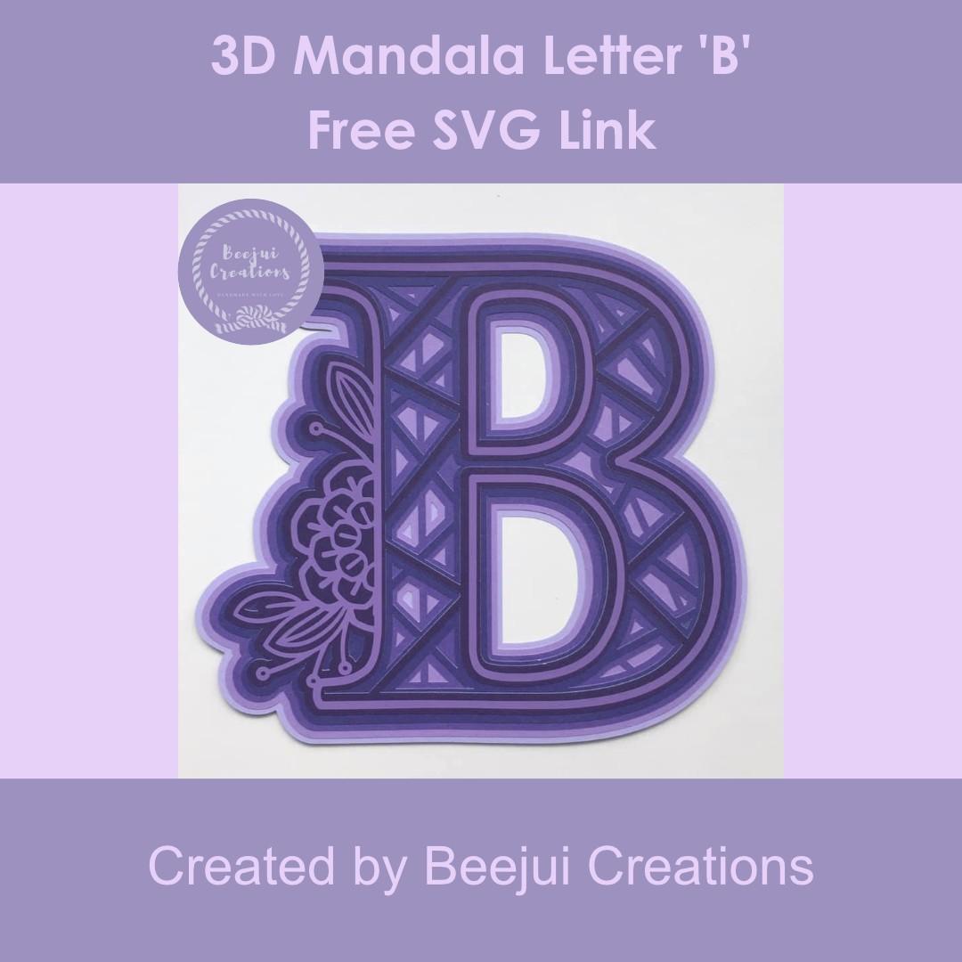 3D Mandala Letter B