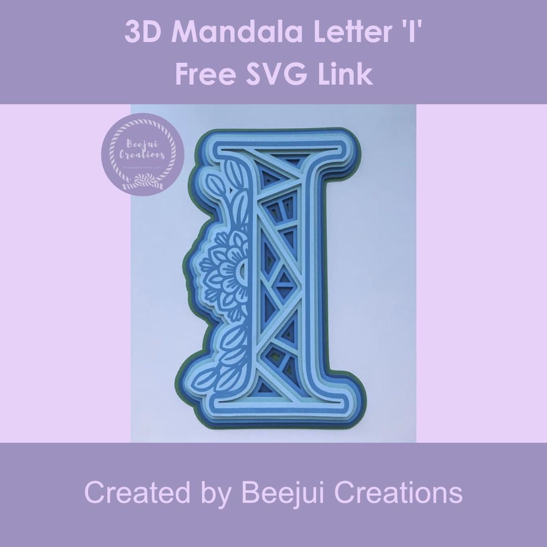 3D Mandala Letter I