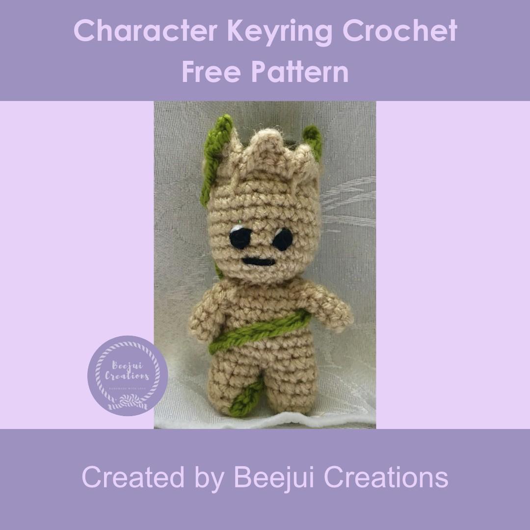 Character Keyring Crochet Pattern