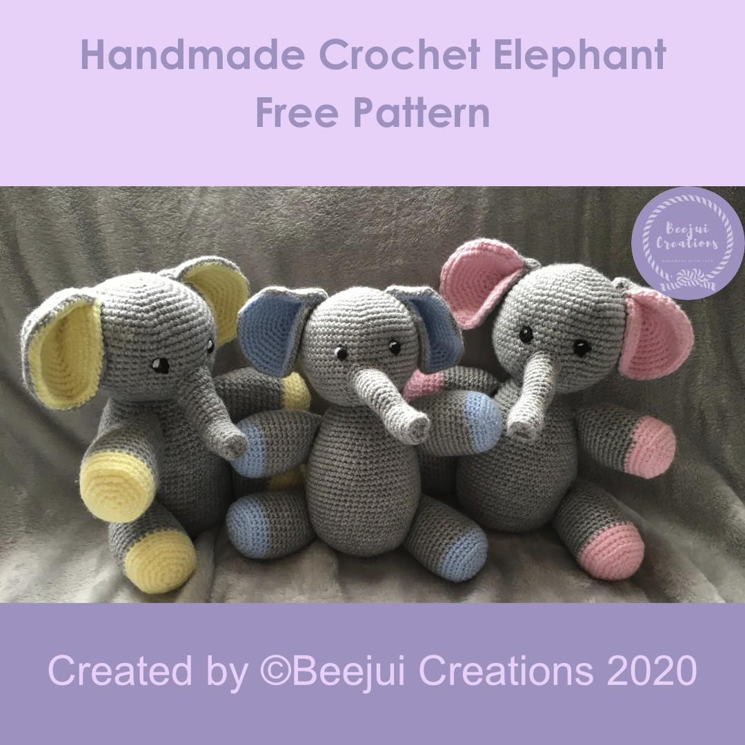 Crochet Elephant Pattern Pin