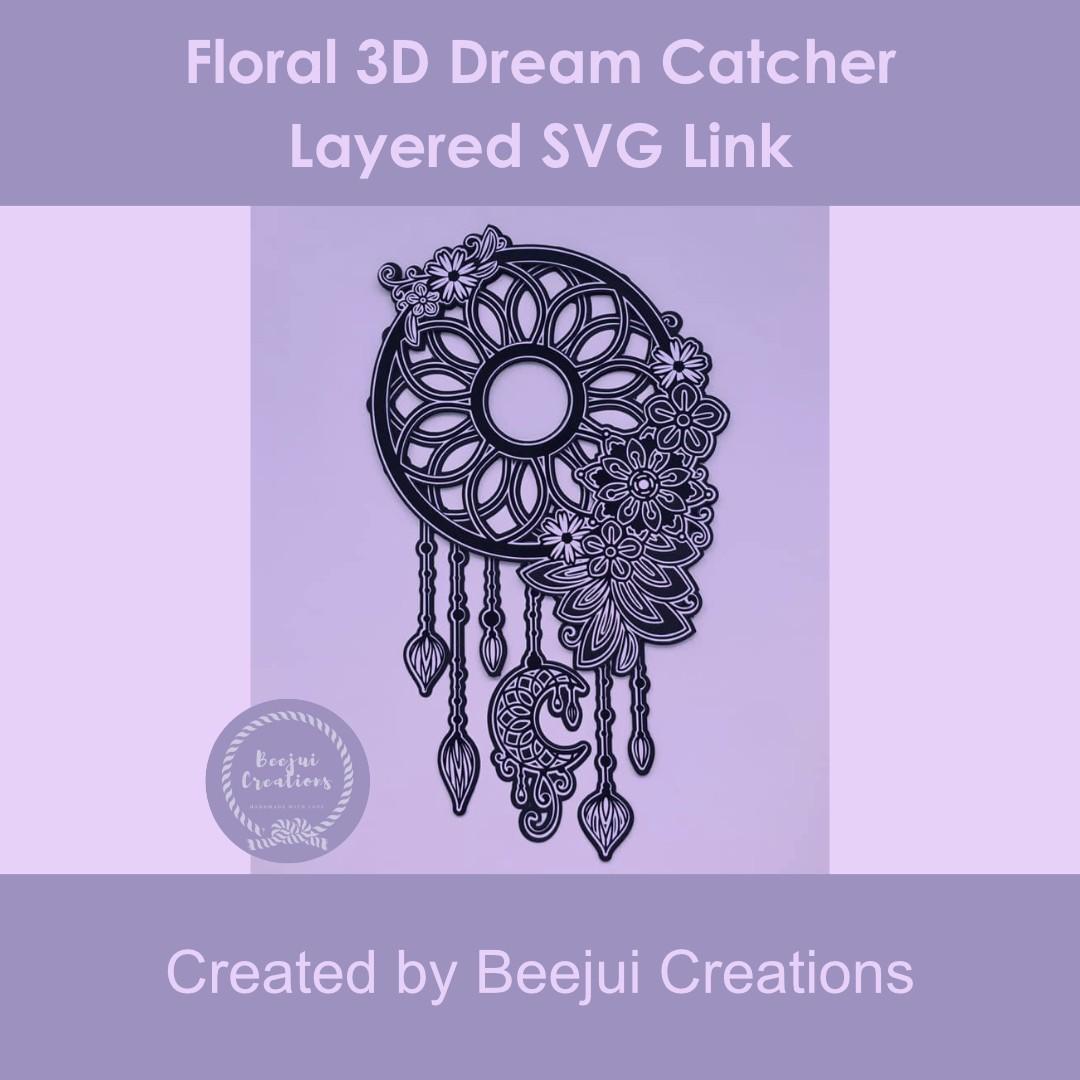Floral 3D Dream Catcher