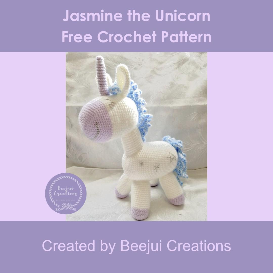 Jasmine the Unicorn Crochet Pattern