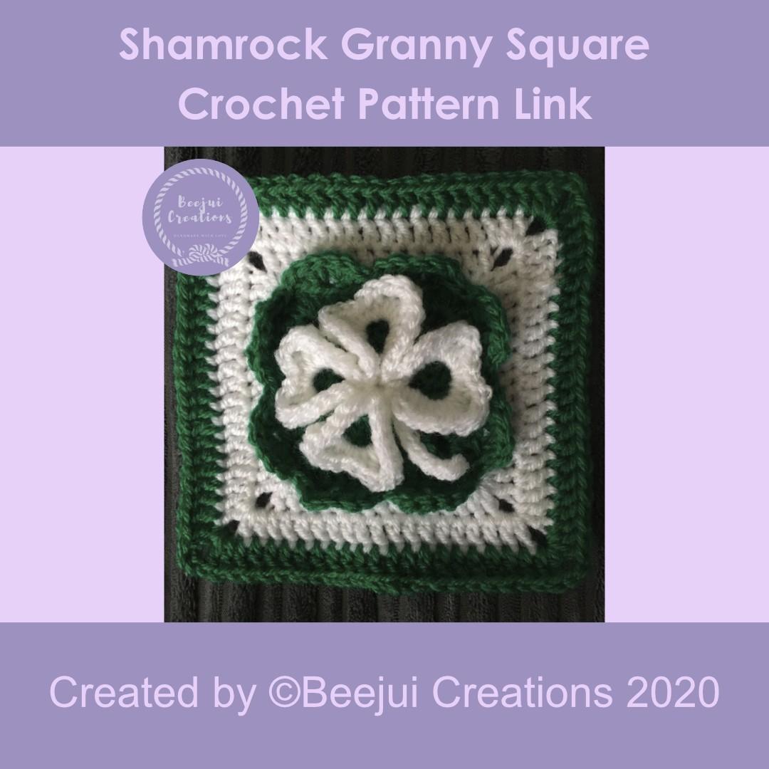 Shamrock Granny Square Crochet